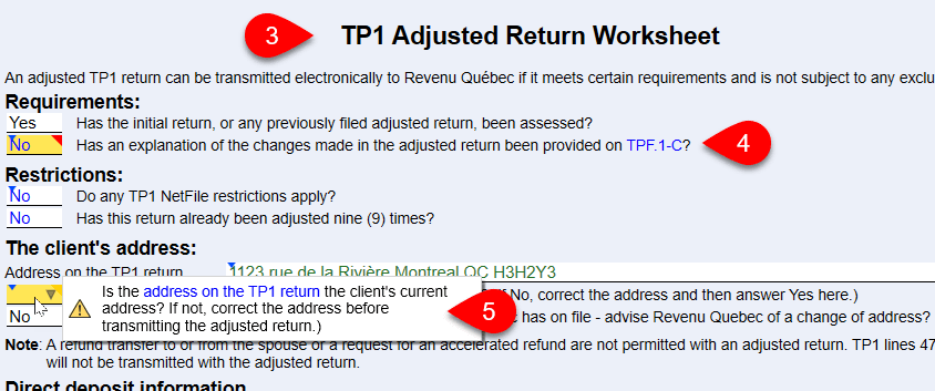 Screen capture of outstanding error messages on TP1Adjusted worksheet.