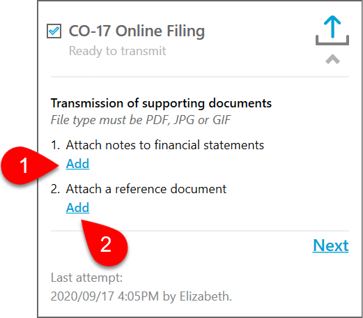 Screen Capture: Attach a Document