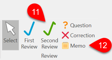 Screen Capture: Add review marks and memos