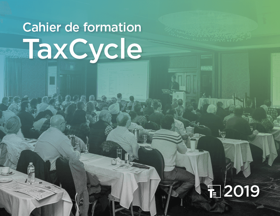 Cahier de formation TaxCycle 2019