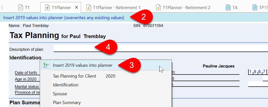 Screen Capture: T1 Planner Worksheet
