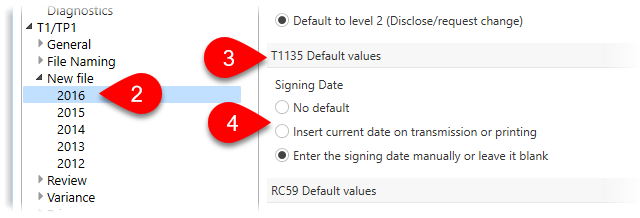 Default the certification date on the T1135