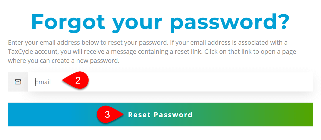 Screen Capture: Forgot Your Password Page