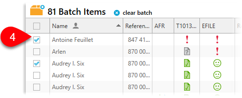 Add to batch from list view