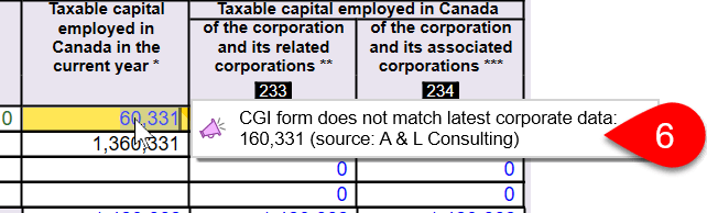 CGI form does not match latest corporate data