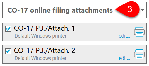 Screen Capture: CO-17 Online Filing Attachments