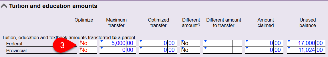 Screen Capture: Disable Tuition Transfer