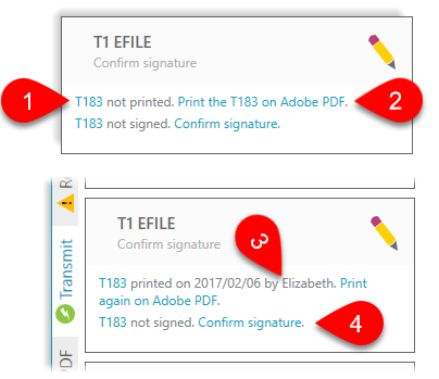 Confirm the signature of the T183
