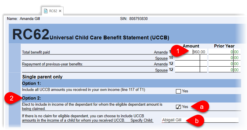 RC62 for single parents