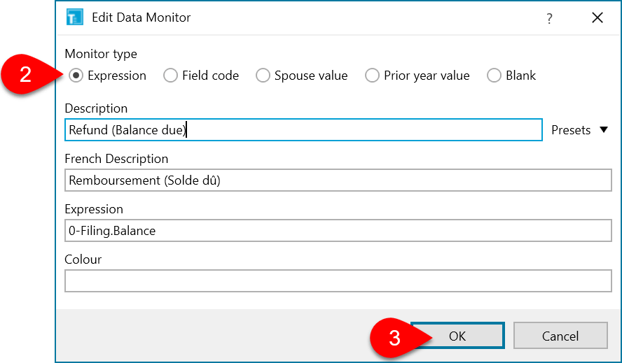 Screen Capture: Edit Data Monitor